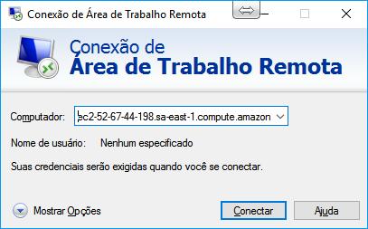 Conectando ao servidor