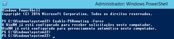 Enable-PSRemoting -Force