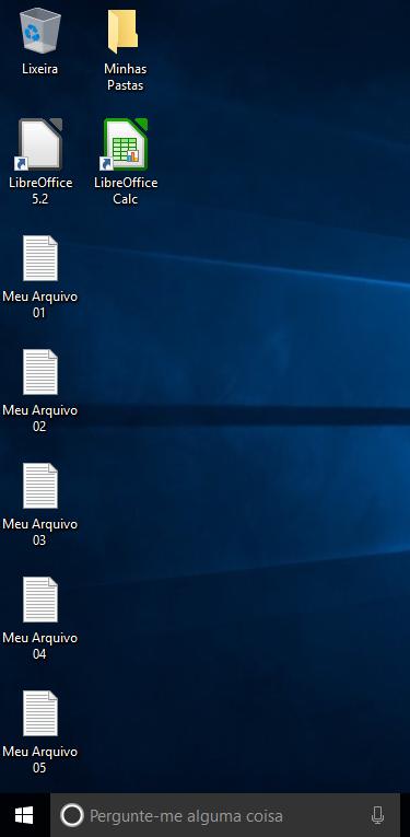 Arquivos pessoais e programas instalados