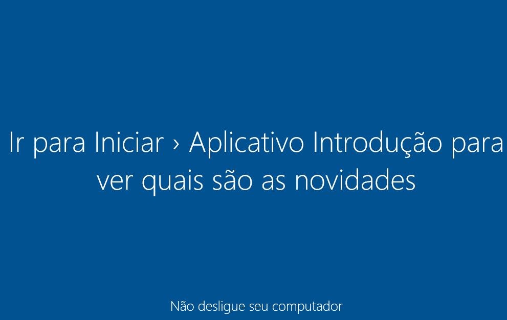Windows 10 - Processando primeiro login