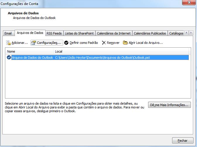 Como colocar senha no Microsoft Outlook 2010 - JOÃO HEYTOR b72388b6a65